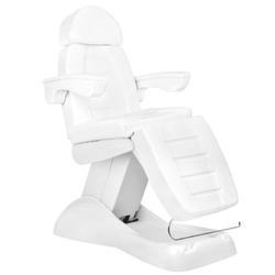Fotel kosmetyczny elektr. lux 4m biały z kołyską
