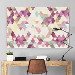 Modny obraz na płótnie - artistic triangle , wymiary - 115cm x 170cm