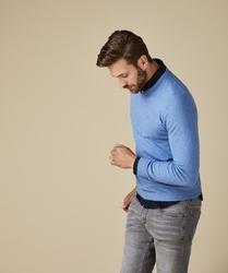 Pullover v-neck niebieski s