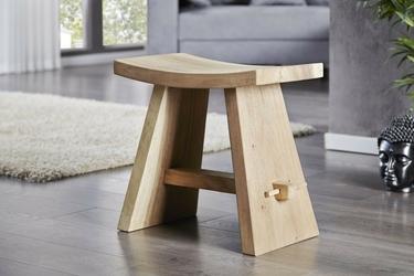 Taboret zento drewniany
