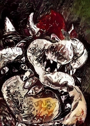 Legends of bedlam - bowser, mario nintendo - plakat wymiar do wyboru: 61x91,5 cm