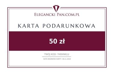 Karta podarunkowa do sklepu eleganckipan.com.pl 50 zł