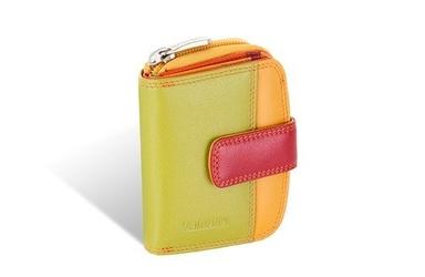 Mały kolorowy portfel valentini colors - czerwony