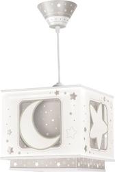 Lampa sufitowa księżyc i gwiazdki moon szara