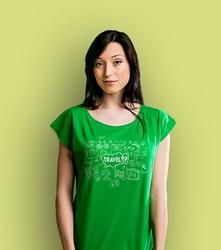 Travel t-shirt damski zielony xl