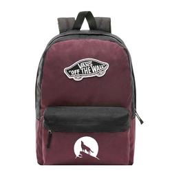 Plecak szkolny vans realm prune purple black - vn0a3ui6tqr - custom wilk - wilk