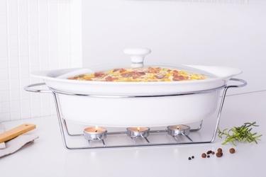 Naczynie żaro  forma do zapiekania z podgrzewaczem ceramiczne owalne altom design mesa 3,3 l