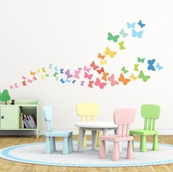 Naklejki kolorowe motylki motyle new
