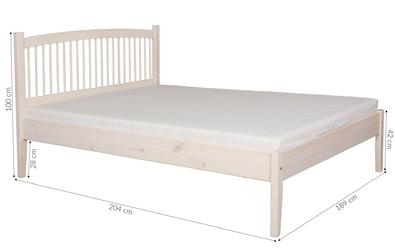 Łóżko drewniane tuluz 180x200 wiele kolorów
