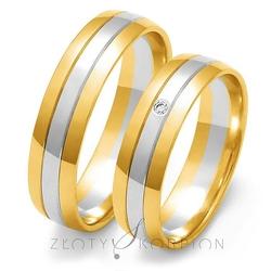 Obrączki ślubne złoty skorpion – wzór au-oe11