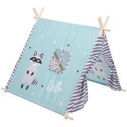 Namiot tipi wigwam dla dzieci domek teepee do ogrodu niebieski