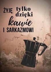 Kawa i sarkazm, miedziany - plakat