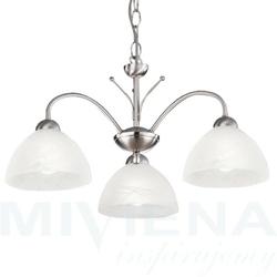 Milanese lampa wisząca 3 stal szkło