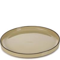 Talerz porcelanowy, płaski z rantem 26 cm caractere revol gałka muszkatołowa rv-652702-4