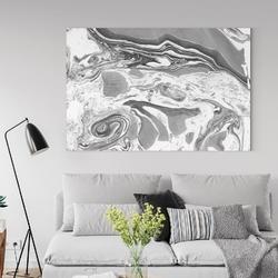Obraz na płótnie - shadow marble , wymiary - 115cm x 170cm