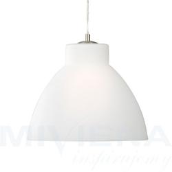 Pendants lampa wisząca 1 stal mleczne szkło