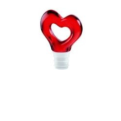 Guzzini - love - zatyczka do butelki, czerwona - czerwony