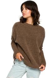 Prosty sweter damski karmelowy bk009