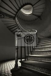 Fototapeta schody kręcone
