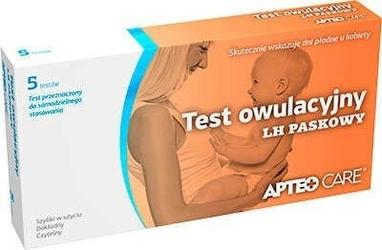 Apteo care test owulacyjny lh paskowy x 5 sztuk w opakowaniu