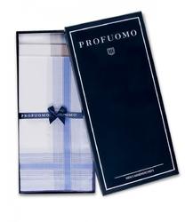 Eleganckie chusteczki męskie bawełniane bordo brąz niebieski 3szt
