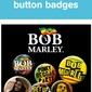 Bob Marley One Love - zestaw 6 przypinek