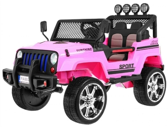 Jeep raptor 4x4 różowy dwuosobowe auto na akumulator + pilot