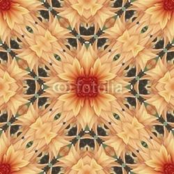 Obraz na płótnie canvas trzyczęściowy tryptyk kwiatki bez szwu 4