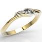 Pierścionek zaręczynowy z żółtego i białego złota z cyrkoniami lp-9306zb
