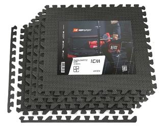 Mata puzzle eva 1cm hs-a009pm 4 sztuki czarna - hop sport