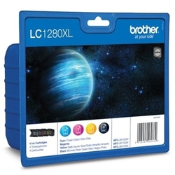 Tusze oryginalne brother lc-1280 xl cmyk lc1280xlvalbp komplet - darmowa dostawa w 24h