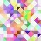 Obraz na płótnie canvas trzyczęściowy tryptyk jasna pastelowa mozaika