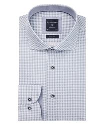 Biała koszula profuomo w geometryczny wzór slim fit 42