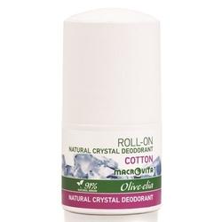 Macrovita olive-elia dezodorant roll-on z naturalnym kryształem cotton 50ml - cotton