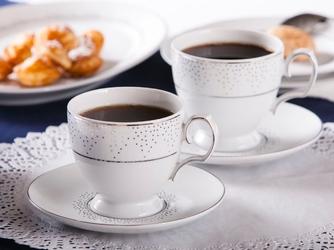 Filiżanki do kawy porcelana mariapaula snow 220 ml, komplet 2 filiżanek