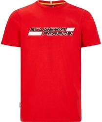 Koszulka scuderia ferrari f1 logo czerwona - czerwony