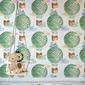 Tapeta dla dzieci - green balloons , rodzaj - tapeta flizelinowa laminowana