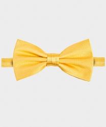 Żółta muszka jedwabna skośny wzór