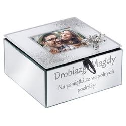 Szkatułka na biżuterię na urodziny walentynki ślub prezent z grawerem