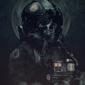 Gwiezdne wojny star wars skull pilot - plakat premium wymiar do wyboru: 30x40 cm