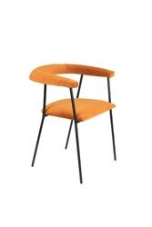 Dutchbone krzesło haily jasnopomarańczowe 1200190
