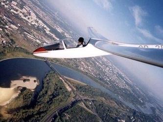 Lot szybowcem - wrocław  - lot motoszybowcem 15 minut