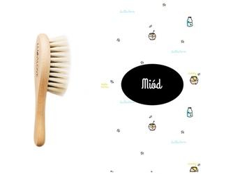 MIÓD szczotka z koziego włosia + myjka