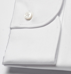 Elegancka biała koszula męska taliowana slim fit, mankiety na guziki 44