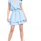 Elegancka sukienka w szpic - jasnoniebieska