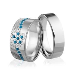 Obrączki srebrne - wzór ag-244