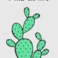 Kaktus - plakat wymiar do wyboru: 42x59,4 cm