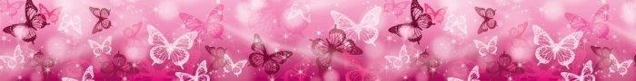 Border motyle pasek motylki różowe