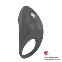 Pierścień wibrujący na penisa - ovo b7 vibrating ring  szary