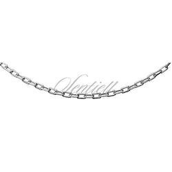 Łańcuszek srebrny pr.925 ankier diamentowany